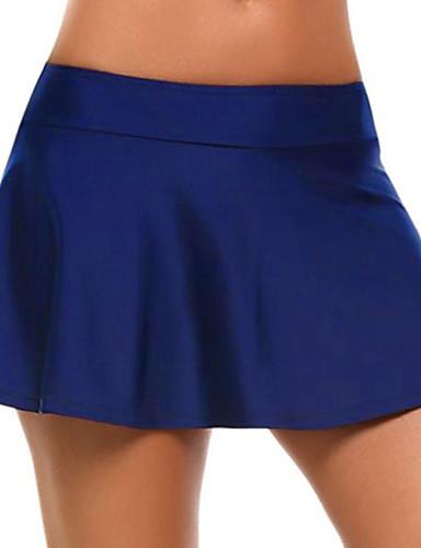 abordables Jupes-Femme Actif Basique Mini Trapèze Jupes - Couleur Pleine Tricot Gris Bleu clair Bleu Roi M L XL
