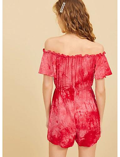 Bello Per Donna Rosso Tute, Tinta Unita Lacci M L Xl #07319132