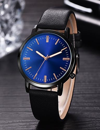 bd3ddff91e1a8 رجالي ساعة فستان كوارتز جلد أسود   أزرق   بني 30 m مقاوم للماء إبداعي تصميم  جديد تناظري-رقمي كلاسيكي موضة - أسود بني أزرق سنة واحدة عمر البطارية
