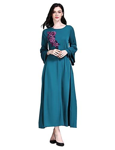 60472dd64986 Γυναικεία Κομψό Swing Φόρεμα - Μονόχρωμο Φλοράλ