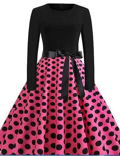30acd71b786 Women s Vintage Basic Swing Dress - Geometric Patchwork Print Black L XL XXL