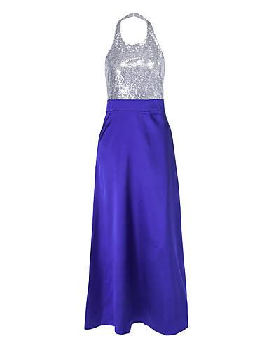 c48984b86f04 Women's Basic Swing Dress - Solid Colored Sequins Blue M L XL