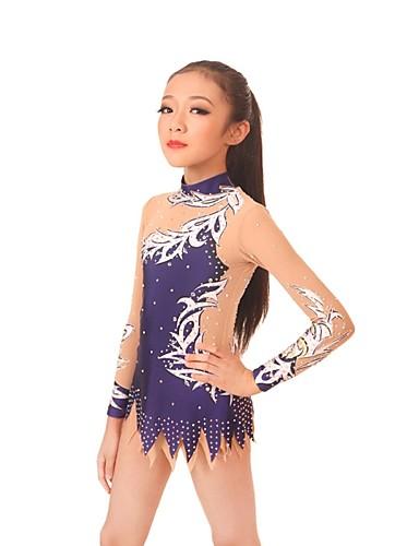 6d06af51e16e Rhythmic Gymnastics Leotards / Artistic Gymnastics Leotards Women's / Girls'  Leotard Navy Blue High Elasticity Competition Handmade Diamond Look /  Shading ...