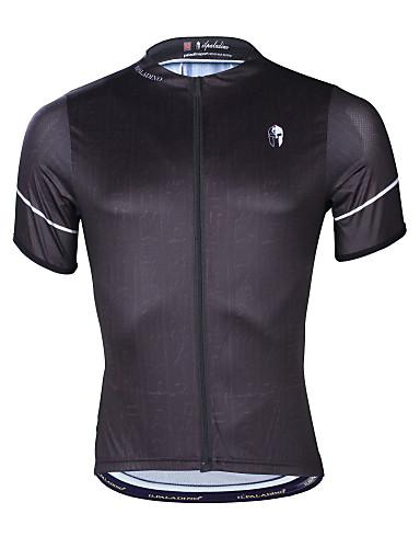 54c8c85ff22f ILPALADINO Ανδρικά Κοντομάνικο Φανέλα ποδηλασίας - Μαύρο Ποδήλατο Μπολύζες  Ανθεκτικό στην υπεριώδη ακτινοβολία Γρήγορο Στέγνωμα Αθλητισμός Ελαστίνη  Τερυλίνη ...