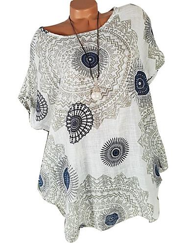 3e0eabb076 abordables Camisas y Camisetas para Mujer-Mujer Camiseta Geométrico Azul  Marino XXXL