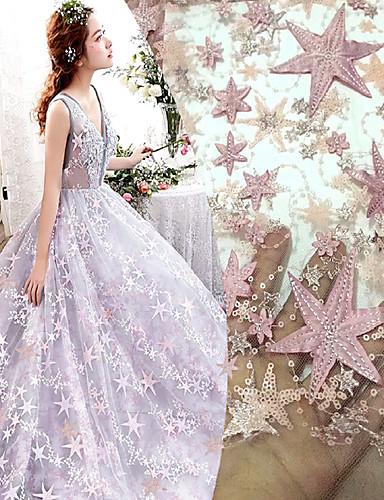 povoljno Wedding Dress Fabric-Čipka Cvjetnih Uzorak 145 cm širina tkanina za Posebne prilike prodan od 5Yard
