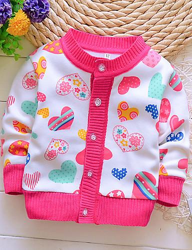 חולצה שרוול ארוך דפוס בסיסי בנות ילדים