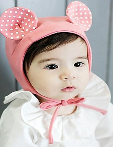 מידה אחת ורוד מסמיק / צהוב כובעים ומצחיות כותנה מסוגנן אחיד / מנוקד וינטאג' / פעיל / בסיסי בנות פעוטות / תינוק