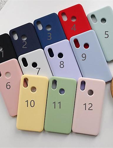 מגן עבור Xiaomi Xiaomi Mi Mix 3 / Xiaomi Mi 8 / Xiaomi Mi 8 SE מזוגג כיסוי אחורי אחיד רך TPU