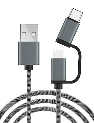 מיקרו USB / סוג כבל C 1.0m (3ft) 1 עד 2 כבל USB מתאם USB עבור xiaomi / huawei