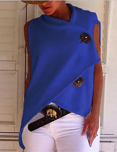 povoljno Ženske majice-Majica s rukavima Žene - Osnovni Dnevni Nosite Pamuk Jednobojni Širok kroj, Kolaž Bijela