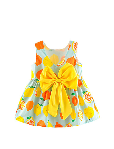 שמלה ללא שרוולים פירות בנות תִינוֹק