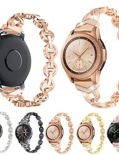 צפו בנד ל Samsung Galaxy Watch 46 / Samsung Galaxy Watch 42 Samsung Galaxy אבזם קלאסי מתכת רצועת יד לספורט
