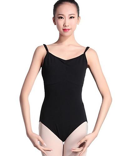 preiswerte Ballettbekleidung-Ballett Turnanzug Damen Training Polyester Kombination Ärmellos Gymnastikanzug / Einteiler