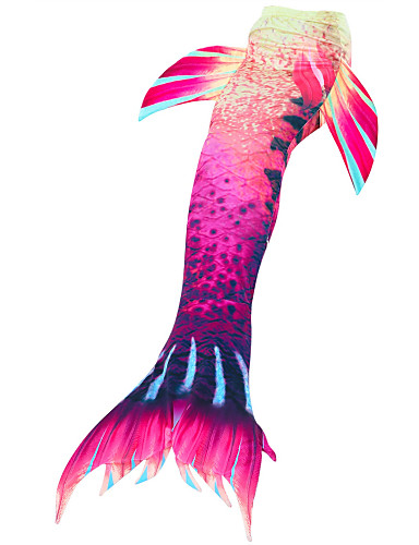 ieftine Cosplay & Costume-The Little Mermaid Mermaid Coada Costume de Baie Copii Fete An Nou Festival / Sărbătoare Poliester Roșu / alb / Fucsia / Violet Albastru Costume de Carnaval Sirenă