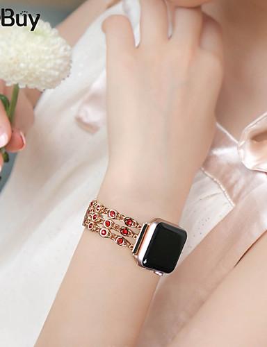 צפו בנד ל Apple Watch Series 4/3/2/1 Apple עיצוב תכשיטים מתכת אל חלד רצועת יד לספורט
