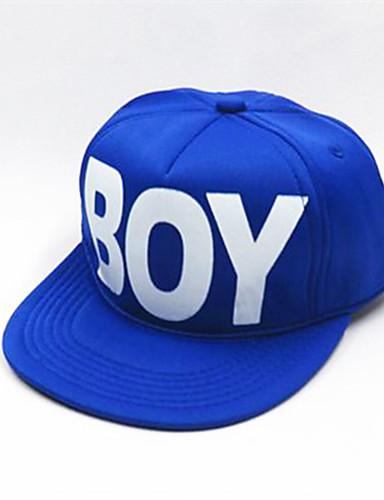 מידה אחת פול / שחור / אודם כובעים ומצחיות כותנה מסוגנן אחיד / אותיות וינטאג' / פעיל / בסיסי בנים / בנות ילדים / פעוטות