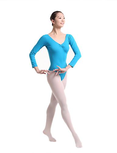 preiswerte Ballettbekleidung-Tanzkleidung für Kinder / Ballett Turnanzug Mädchen Training / Leistung Baumwollmischung Kombination Hoch Gymnastikanzug / Einteiler