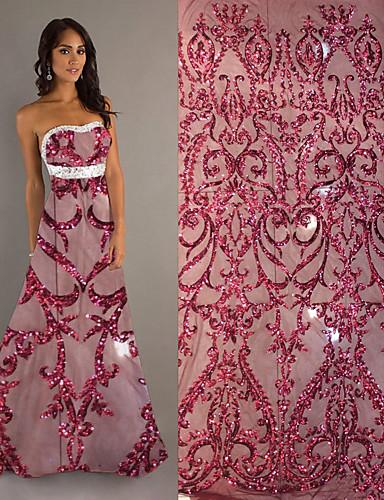 olcso Fashion Fabric-Csipke Virágok Minta 110-120 cm szélesség szövet mert Különleges alkalmak eladott valami által 5Yard