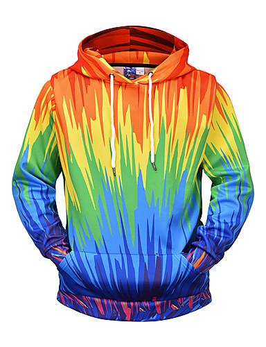 povoljno Muške majice s kapuljačom i trenirke-Muškarci Osnovni Hoodie Color block