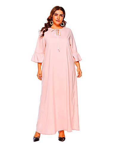 Kadın's Kombinezon Elbise - Solid, Fiyonklar Maksi