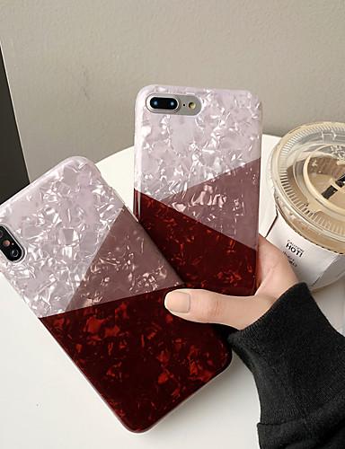 Pouzdro Uyumluluk Apple iPhone XS / iPhone XR / iPhone XS Max Toz Geçirmez / Temalı Arka Kapak Geometrik Desenli / Mermer Silika Jel