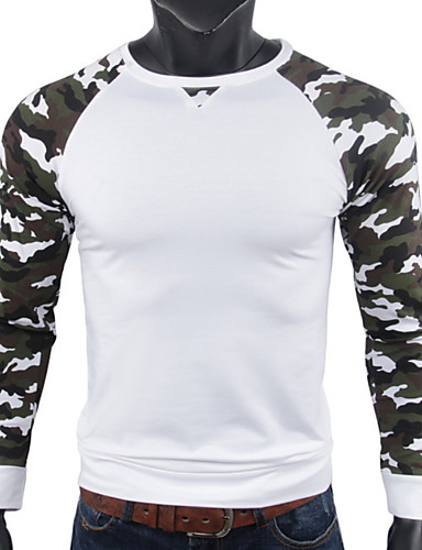 cheap Men's Tees & Tank Tops-Men's Daily Wear T-shirt - Leopard White US40 / UK40 / EU48