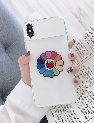 Pouzdro Uyumluluk Apple iPhone XS / iPhone XR / iPhone XS Max Toz Geçirmez / Kaplama / Yarı Saydam Arka Kapak Çiçek TPU