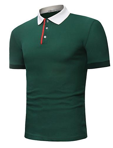 cheap Men's Shirts-Men's Daily Wear Basic Shirt - Striped Tassel Orange US38 / UK38 / EU46