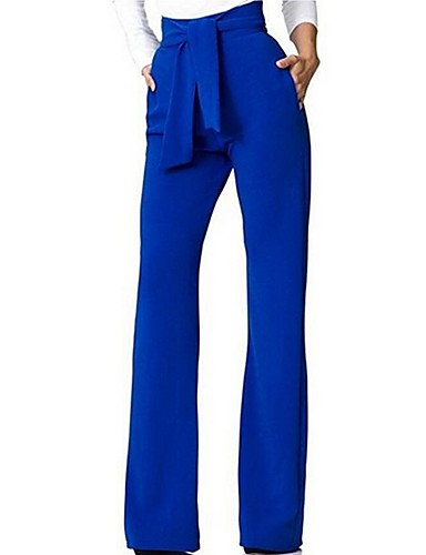 cheap Women's Pants-Women's Basic Chinos Pants - Solid Colored Red Yellow Wine M L XL
