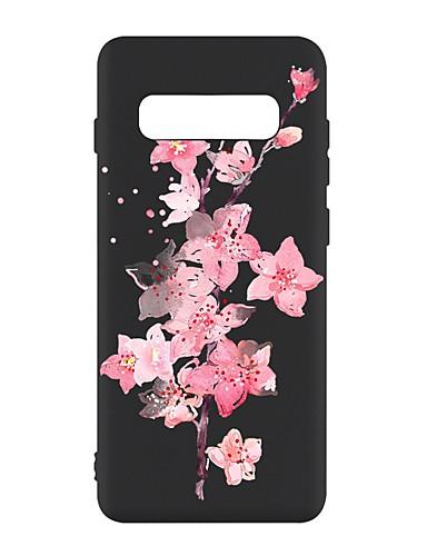 Pouzdro Uyumluluk Samsung Galaxy S9 / S9 Plus / S8 Plus Şoka Dayanıklı / Buzlu / Temalı Arka Kapak Çiçek TPU