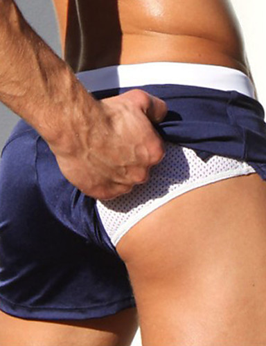 abordables Surf, Plongée & Snorkeling-Homme Shorts de Natation Boxers de natation Shorts de Surf Respirable Séchage rapide Cordon - Natation Plongée Surf Printemps & Automne Eté / Micro-élastique