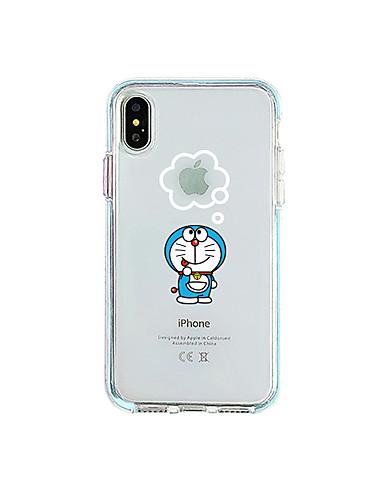 Pouzdro Uyumluluk Apple iPhone XR / iPhone XS Max / iPhone X Toz Geçirmez / Şeffaf / Temalı Arka Kapak Karton TPU