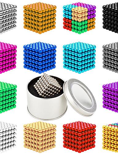 billige Leker og hobbyer-512 pcs 5mm Magnetiske leker Magnetiske kuler Byggeklosser Supersterke neodyme magneter Neodym-magnet Neodym-magnet Magnetisk Stress og angst relief Office Desk Leker Lindrer ADD, ADHD, angst, autisme