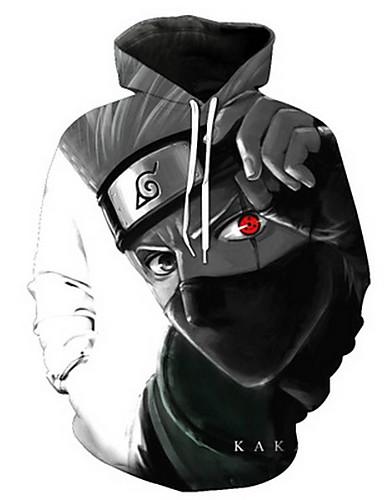 billige Cosplay til hverdagen-Naruto Cosplay Jakke Terylene Trykt mønster Til Herre / Dame