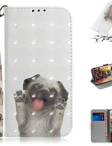 Pouzdro Uyumluluk Samsung Galaxy Note 10.1 Cüzdan / Kart Tutucu / Satandlı Tam Kaplama Kılıf Hayvan / 3D Karikatür PU Deri