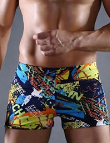 baratos Roupas de Mergulho & Camisas de Proteção-Homens Shorts de Natação Elastano Bermuda de Surf Respirável Praia Reativo Primavera Verão Outono / Elasticidade Alta