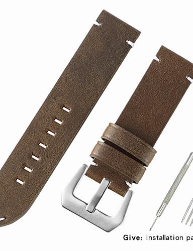 Gerçek Deri / Buzağı Tüyü Watch Band kayış için Siyah / Kırmızı / Kahverengi Diğer 2.2cm / 0.9 İnç / 2.4cm / 0.94 İnç
