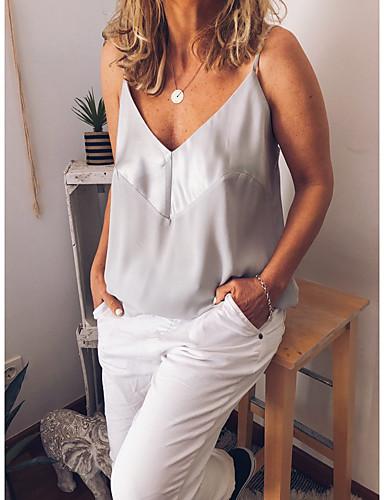 billige Topper til damer-T-skjorte Dame - Ensfarget, Åpen rygg Grunnleggende Rosa US2 / UK6 / EU34