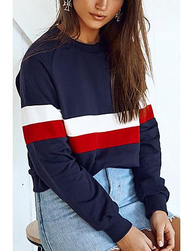 abordables Hauts pour Femmes-Femme Simple Sweatshirt Bloc de Couleur
