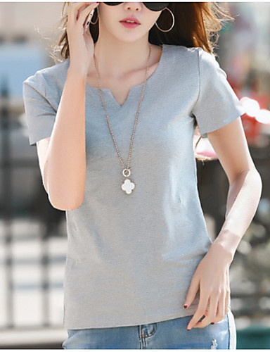 billige Dametopper-T-skjorte Dame - Ensfarget, Lapper Gatemote Svart