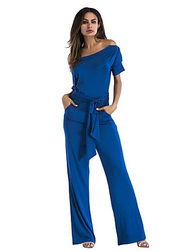 povoljno Ženske majice-Žene Boho Crn Lila-roza Obala Jumpsuits, Jednobojni S M L