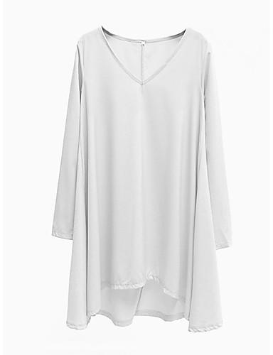 billige Topper til damer-T-skjorte Dame - Ensfarget Grunnleggende Svart