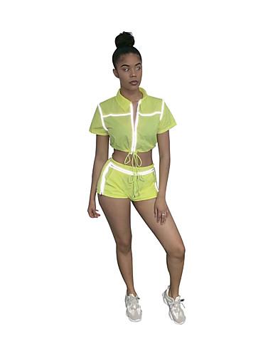 abordables Hauts pour Femmes-Noir / Vert Couleur Pleine Coupe Sur-Mesure Polyester Costume - Col Châle Sans bouton