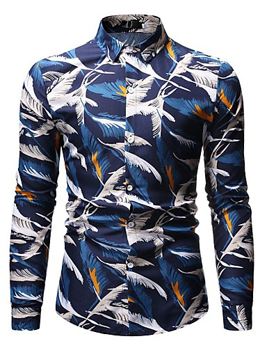Erkek Gömlek Desen, Çiçekli / Geometrik / Grafik Vintage / Sokak Şıklığı Havuz