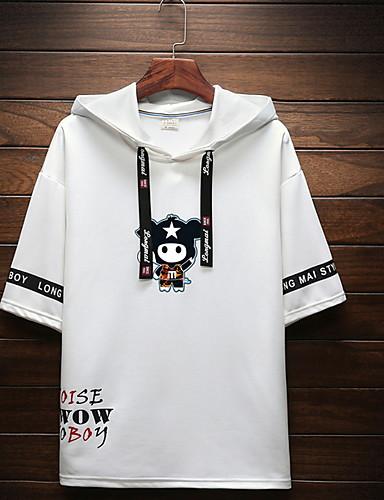 voordelige Heren T-shirts & tanktops-Heren Print T-shirt Geometrisch Zwart