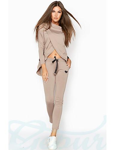 Kadın's Kapüşonlu Giyecek Solid Pantolon