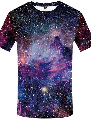 voordelige Heren T-shirts & tanktops-Heren Boho Print T-shirt Polka dot Regenboog