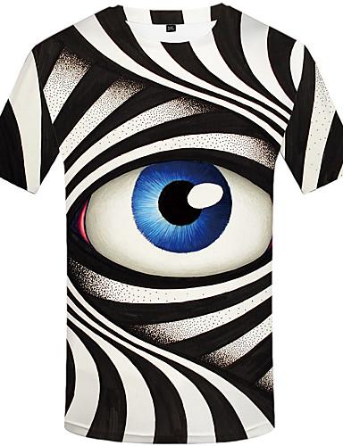 hesapli Erkek Tişörtleri ve Atletleri-Erkek Tişört Desen, Portre Vintage Siyah ve Beyaz Siyah