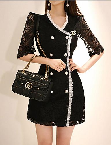 Kadın's Kılıf Elbise - Solid Mini